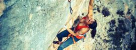 Alizee Dufraisse escalando estado critico 9a en Siurana