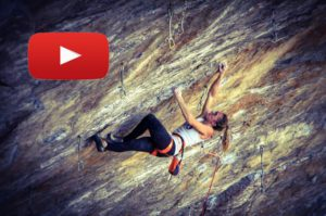 Julia Chanourdie escalando Ground Zero 9a