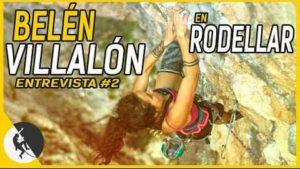 vídeo de la escaladora chilena belén villalón escalando en libre en Rodellar