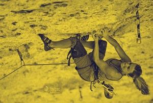 la escaladora andrea cartas en cosi fan tutte, 8c+ de escalada deportiva de la piscineta, en rodellar