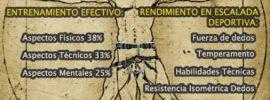 infografía del modelo biométrico para escalada deportiva según la ciencia