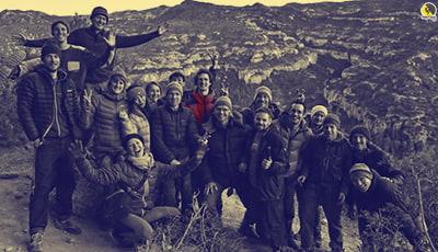 los escaladores con Adam Ondra en Margalef