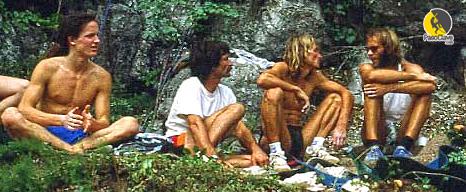 Los escaladores Edlinger y Ben Moon en SportRoccia 1985, Bardonecchia