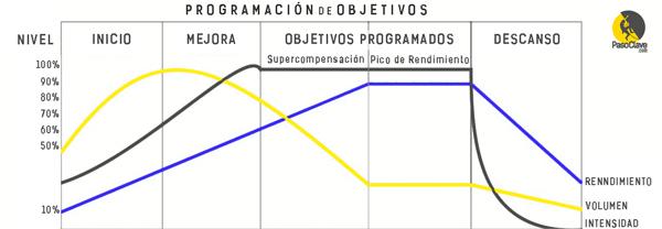 grafico de planificacion de entrenamiento de escalada