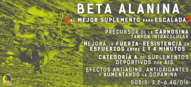 beneficios de la beta-alanina, el mejor suplemento para escalada