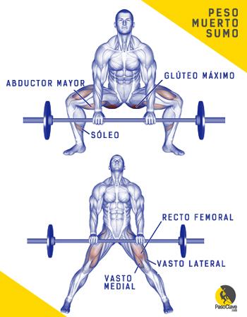escalador entrenando el ejercicio del peso muerto