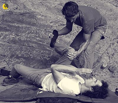 Adam Ondra practicando la visualización activa con Klaus Isele