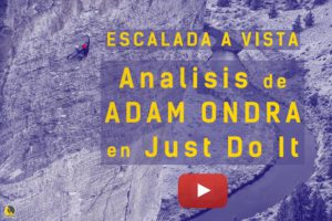 Vídeo de Adam Ondra encadenando a vista Just do It