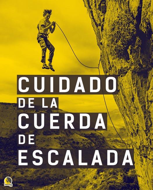 cuidado de la cuerda de escalada