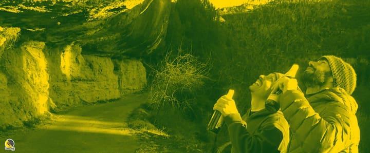 escaladores de roca en Margalef