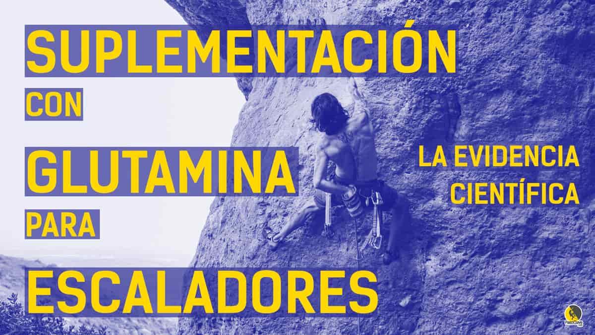 suplementación con glutamina para escaladores