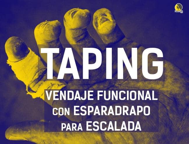 taping: vendaje terapéutico con esparadrapo para escalada