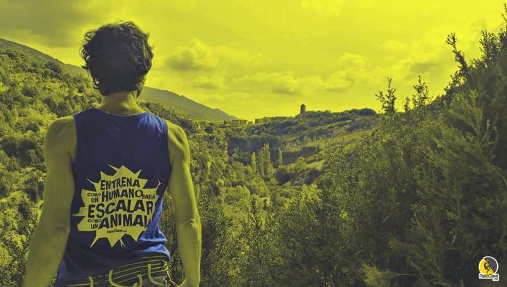 camiseta para escalar