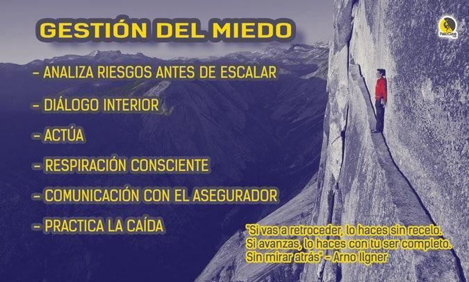 Consejos para entrenamiento mental de escalada y gestión del miedo a las caídas