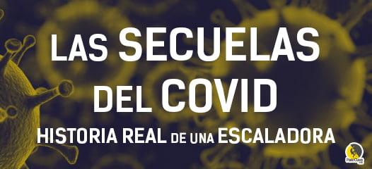 secuelas del covid en una escaladora rescatada haciendo vía larga en Vilanova de Meiá