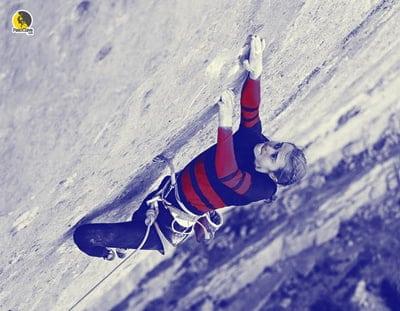 Margo Hayes entrenando el ritmo para escalada en roca