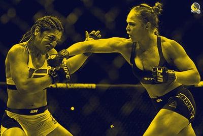 mujer boxeadora luchando con la testosterona elevada por practicar sexo la noche antes