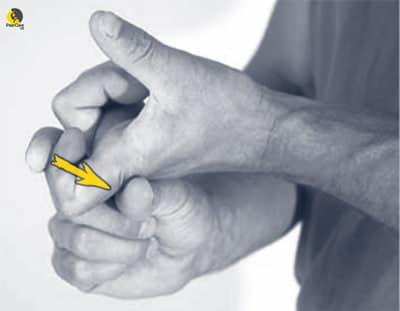 estiramiento del flexor del dedo
