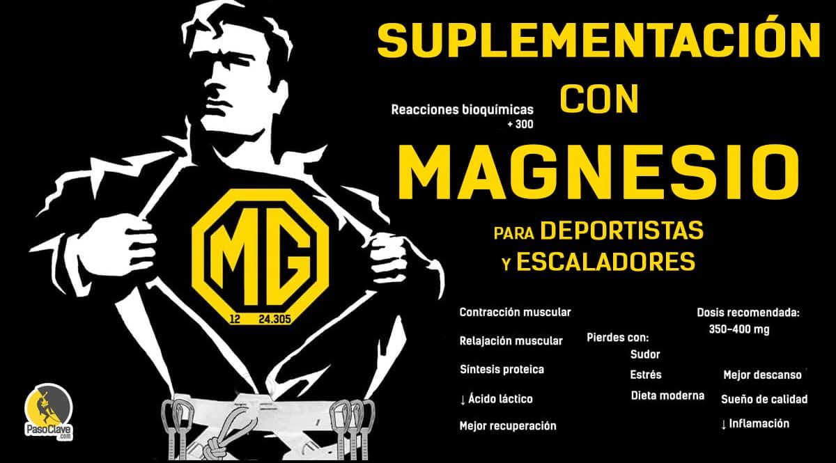 Beneficios de la suplementación de magnesio para escaladores