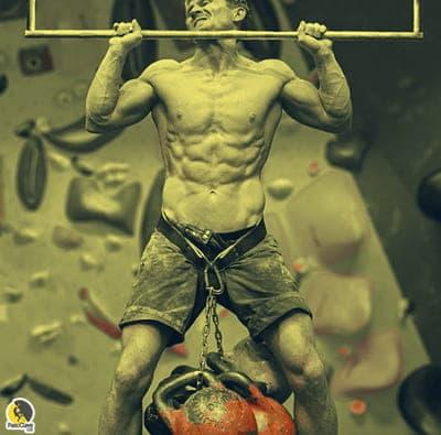 Escalador entrenando con la intensidad ajustada con la escala subjetiva