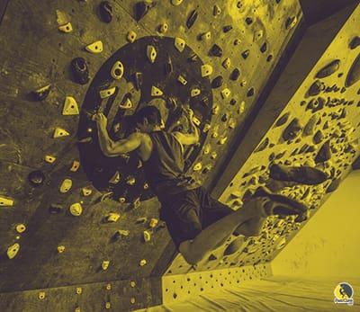 Escalador entrenando a alta intensidad subjetiva